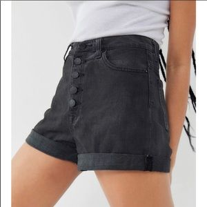 BDG Urban Outfitters black button up shorts